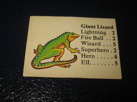 1980 TSR D&D: Dungeon Board Game Piece: Monster 1st Level - Giant Lizard - £0.72 GBP