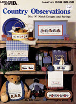 Cross Stitch Country Observations Leisure Arts 538 - $5.00