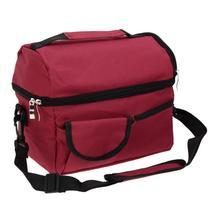 (wine red)8L Square Thermal Bag Women Men Lunch Bag Cooler Beam Port Lun... - $34.00