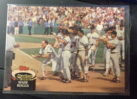 1992 Topps Stadium Club #520 Wade Boggs Boston Red Sox Baseball Card ~ NM - $1.55