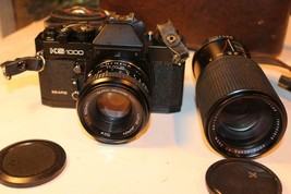VINTAGE CAMERA - SEARS KS 1000 w/50mm LENS & 80-200 ZOOM LENS W/CASE - E... - $37.19