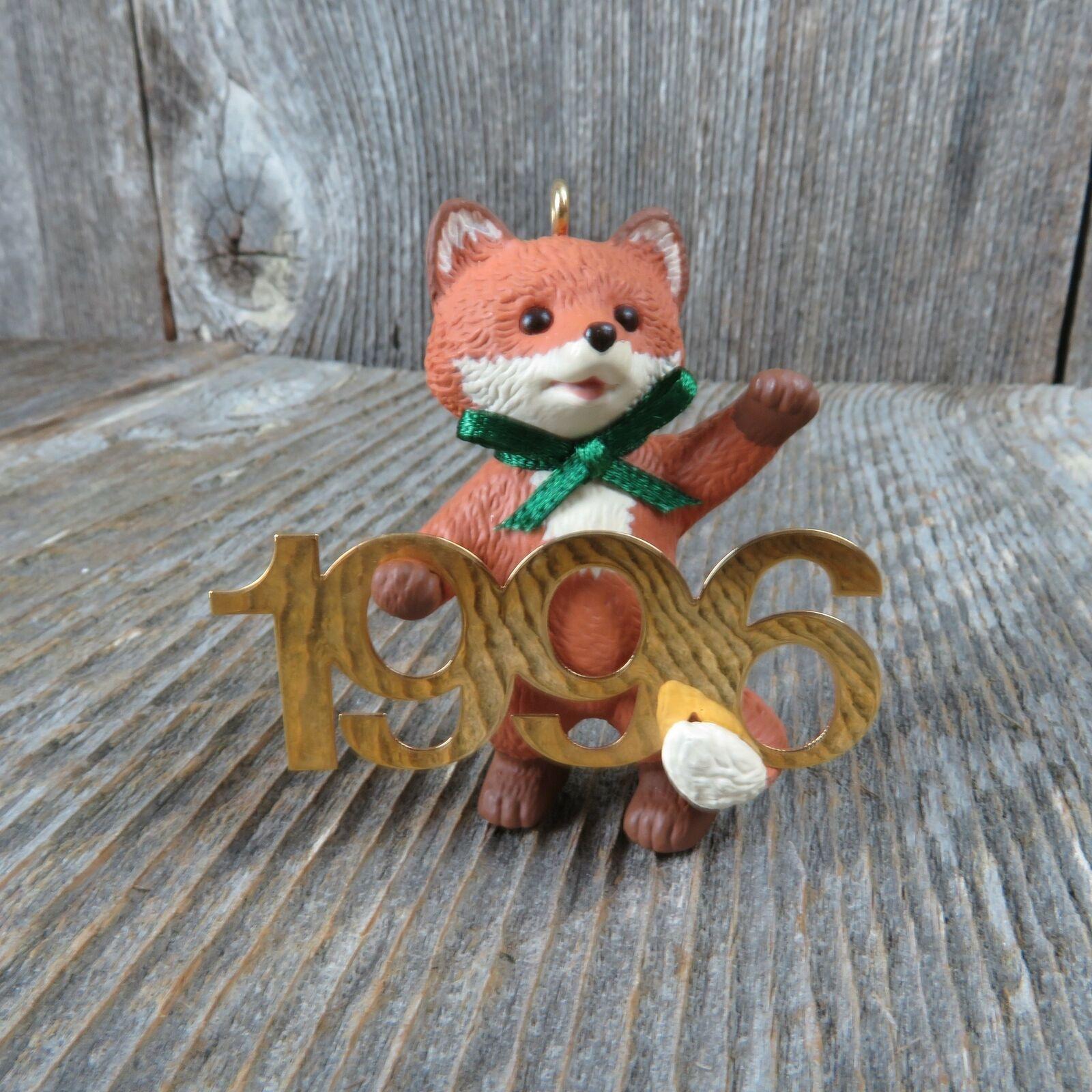 Vintage Red Fox Hallmark Keepsake Christmas Ornament 1996 Fabulous Decade