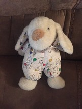VTG CARTER'S BUNNY RATTLE PLUSH TOY LOVEY WHITE Multi balloons outfit - $56.06
