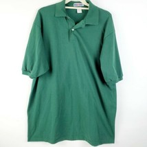 Jerzees Men's Short Sleeve Polo Shirt size XL hunter green cotton pre-owned guc - $24.43