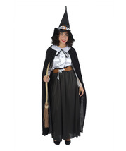 Adult Women's Witch Costume, Black and White  - $49.85