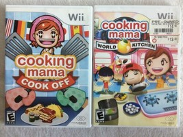 Cooking Mama: Cook Off & Cooking Mama: World Kitchen (Nintendo Wii, 2007) - $6.92