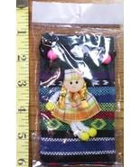 Eastern European Colorful Drawstring Bag w/Cute Girl Neat! - $15.00