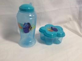 NEW 2 Pc Disney Finding Nemo Dory Dorey Dorie Water Bottle straw & Flowe... - $9.49