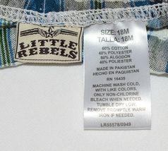 Little Rebels SK8 Club Polo Shirt Short Set Blue Plaid Size 12 Months image 6