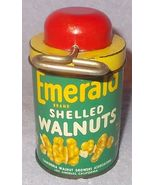 Vintage Emerald Shelled Walnuts Tin with Chopper Top  - $14.95