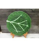 """Vintage Portugal Large Deep Green Cabbage Leaf Platter 11.5"""" - $27.72"""