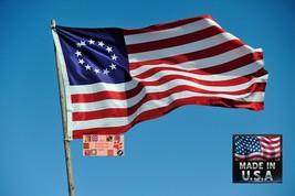 Betsy Ross American 3x5 Resistente en / Exterior Super-Poly Bandera Fabr... - $17.86