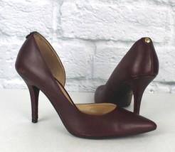 Michael Kors Femmes Chaussures Talon Haut Classique Cuir Vin Taille 6.5 M - $22.04