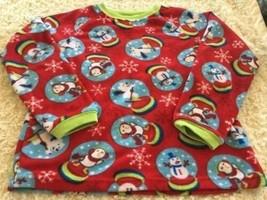 Children's Place Boys Red Penguin Snowman Fleece Long Sleeve Pajama Shir... - $5.00