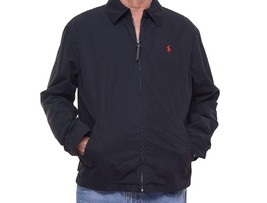 Polo Ralph Lauren Mens Lined Long Sleeves Windbreaker Jacket Black XXL 7206-3 - $111.07