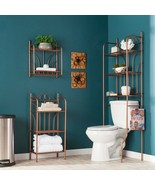 Bronze Bathroom Box 3 pc Over Toilet Spacesaver Wall Shelf Floor Stand O... - $137.51