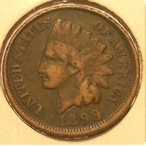 1899 Indian Head Penny G4 #0294 - $2.39