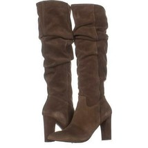 Franco Sarto Artesia Pointed Toe Slouch Knee High Boots 169, Light Brown Suede, - $71.03