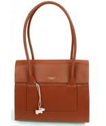 Radley Shoulder Bag Border Tan Brown Medium Large Leather Handbag - $324.40