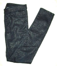Jordache Girls Jeggins Size L 10 12 Blue Glittery Stretch Pullon School ... - $19.79