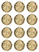 12 Pieces 1st Place Gold Medal Award Trophy With Free Lanyard MS713G $2.... - $29.88