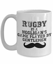 PixiDoodle Rugby Game for Gentlemen - Funny Distressed Coffee Mug (15 oz, White) - $21.77