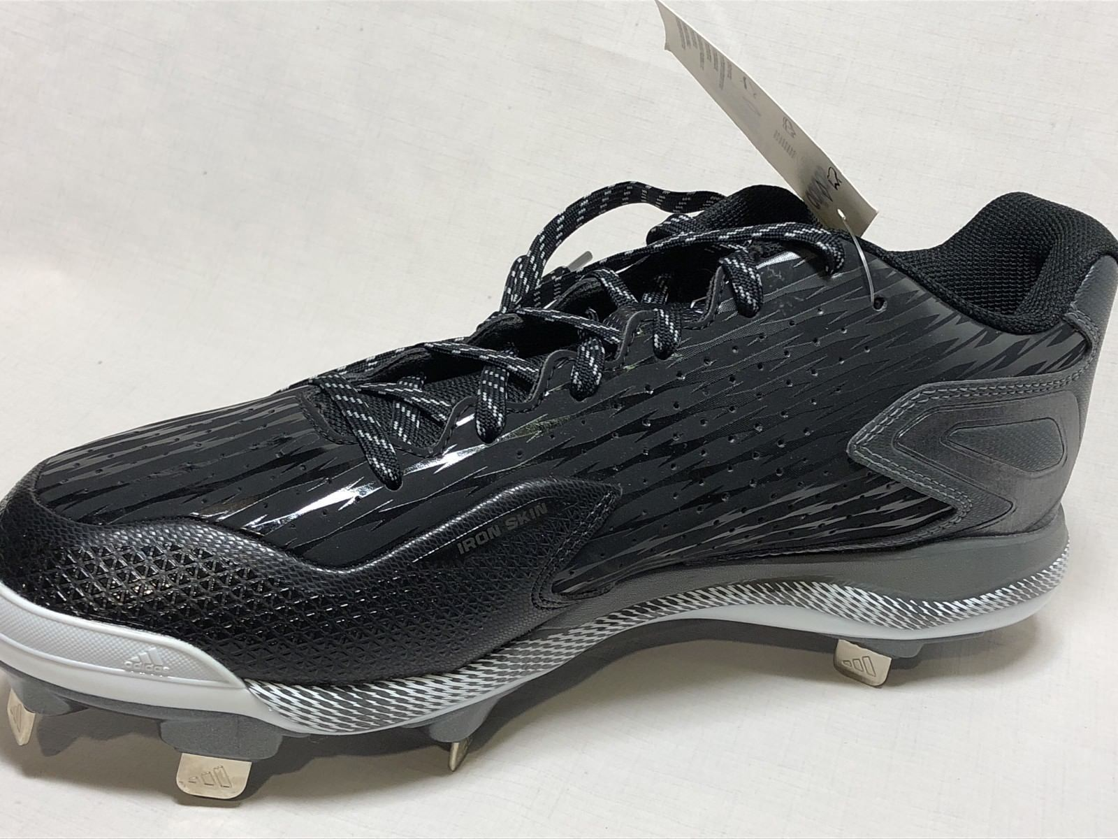 cheap for discount 52ab6 7e1fe ... Adidas S84762 Mens PowerAlley 3 Metal Baseball Cleats Size US11 -Black  ...