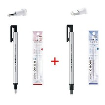 Tombow MONO Zero Pen-Style Eraser Refill Round Tip + Square Tip + 4 Refi... - $12.45