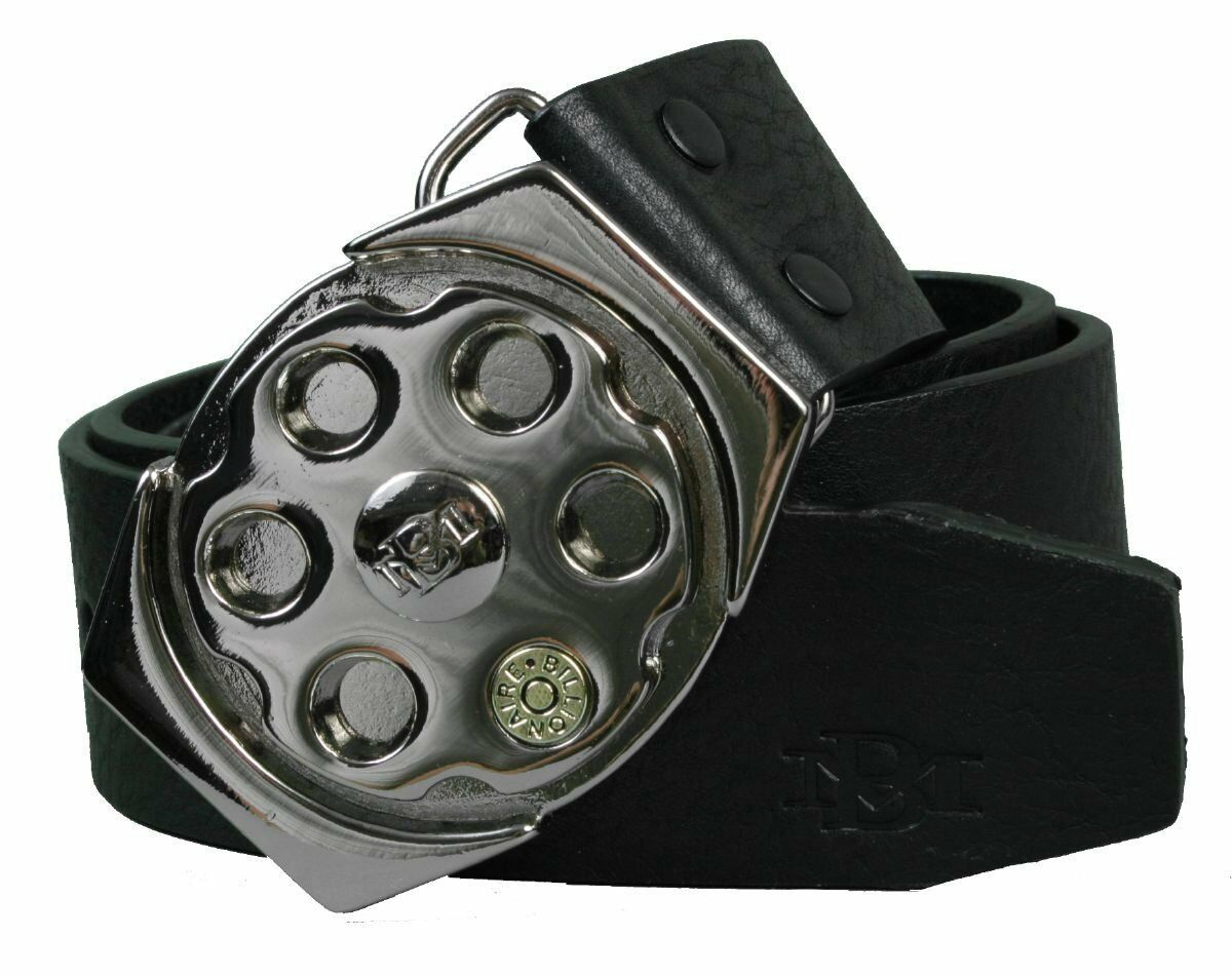 Billionaire Mafia Black Spinner Plaque Belt