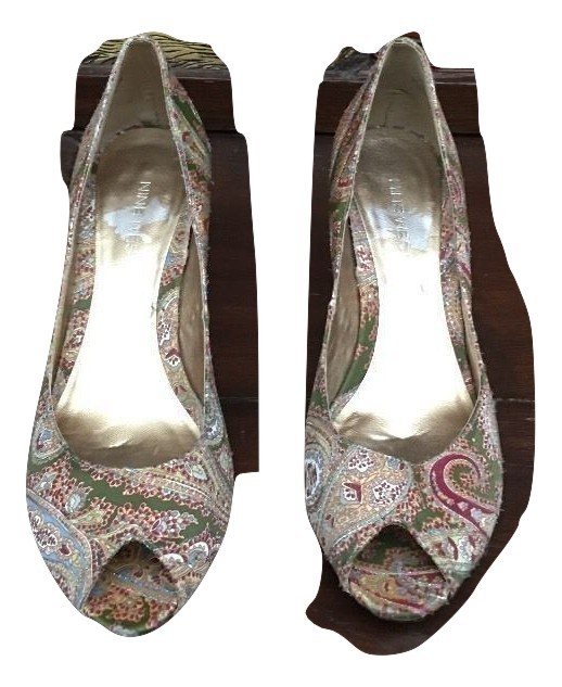 c2a8488590d nine west multi peep toe Tapestry heels size and 50 similar items. Img  4311697530 1501018778