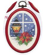 Light Christmas Ornament kit counted cross stitch Permin Copenhagen - $13.50