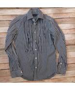Ralph Lauren Ruffled Shirt 100%Cotton Striped Size 6 - $17.82