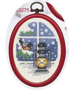 Bullfinch Christmas Ornament kit counted cross stitch Permin Copenhagen - $13.50