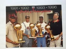 Poster Original Chicago Bulls World Champions 1991 1992 1993 1996 Jordan Pippen - $32.06