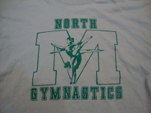 Primary image for Vintage North M Gymnastics Athletic Exercise Gym Soft Grey Men's T Shirt L