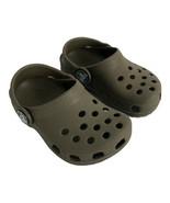 Crocs Toddlers Shoe Size 4  5 Dark Brown Rubber Clog Slip On  - $17.34