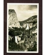 Real Photo Postcard Vernal and Nevada Falls from Sierra Point CA - $2.99