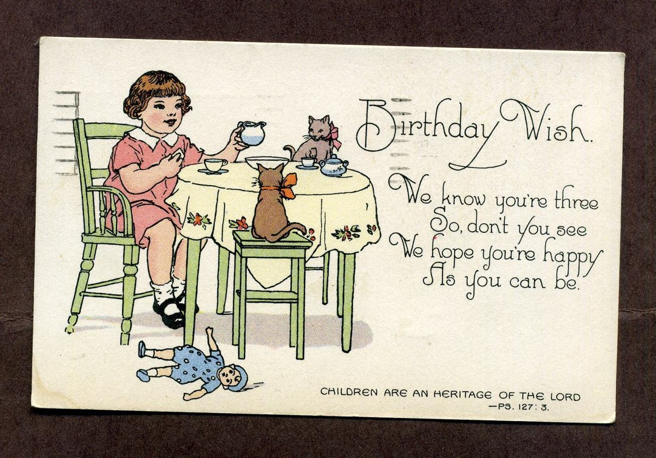 Vintage 1930s Happy Birthday Wishes Postcard And 50 Similar Items