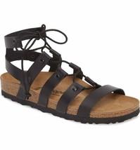 New Birkenstock P API Llio Cleo Black Leather Gladiator Sandals Shoes Women's 7/38 - $70.54