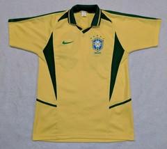 90s Bootleg Nike CBF Futbol Brazilia Brazil Soccer Club Jersey size L VINTAGE - $20.54