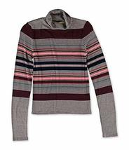 Aeropostale Womens Striped Turtleneck Pullover Sweater Red 2XL - Juniors - $12.89