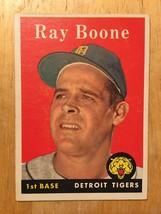 1958 Topps #185 Ray Boone Baseball Card Detroits Tigers NM RF1  - $7.99