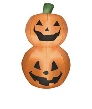 "Fall Halloween decor yard display Stacked Pumpkin Duo Inflatable, 42"" se... - $128.69"