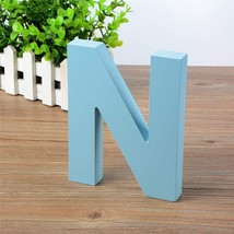 Wooden Hanging Wall Letters N - Blue Decorative Wall Letter for Children... - $10.94