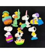 Vintage Lot 7 Peanuts doll- SNOOPY Easter United Feature Syndicate - $28.18