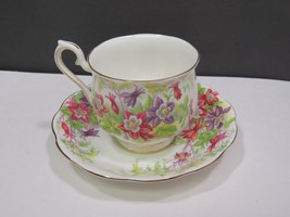 Royal Albert Teacup and Saucer Columbine Flowers Hampton Style - $23.76