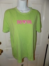 Life Is Good MOM Green Short Sleeve T-shirt Size M Women's EUC - $16.38