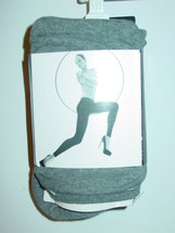 Express gray heather footless tights-S/M-NIP-$29.90 - €10,34 EUR
