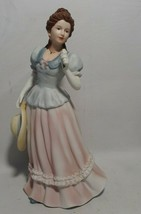 Home Interior Lady Camille Figurine HOMCO 1452 Vintage Victorian Lady w/ Hat - $26.18