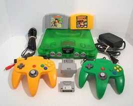 Nintendo 64 Jungle Green Console N64 + Memory Expansion DONKEY KONG Didd... - $199.95